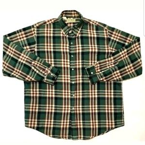 L.L.Bean Mens Vintage Button Down Flannel Plaid